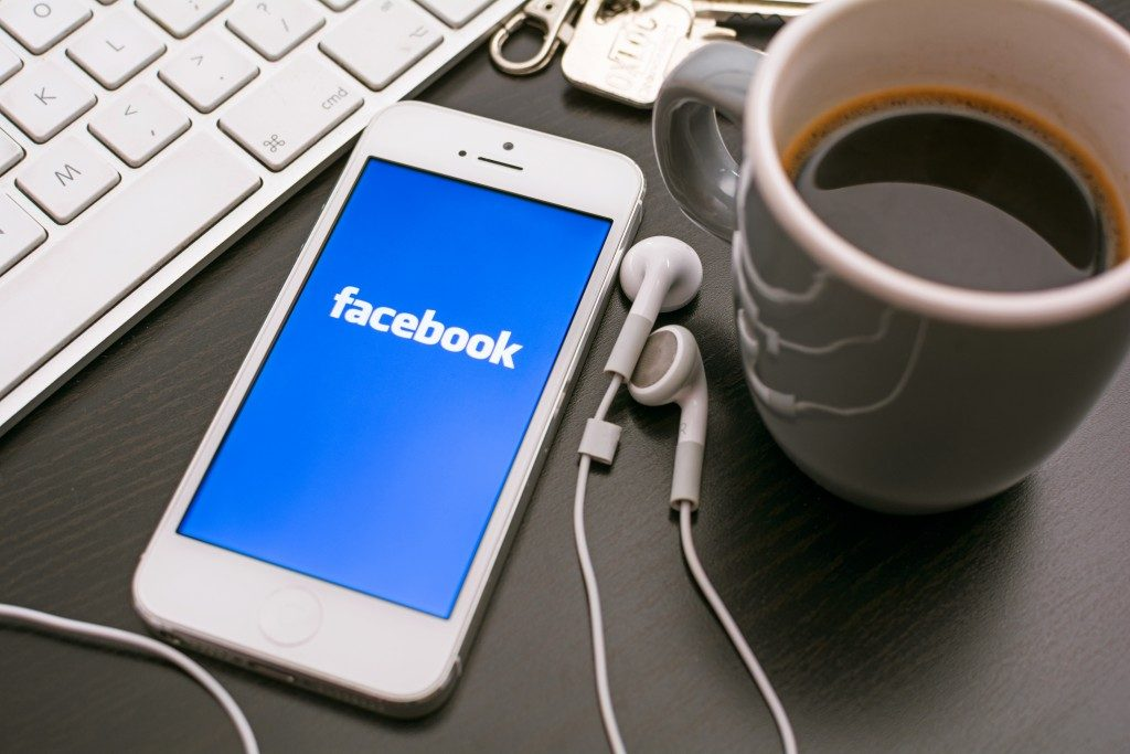 iPhone with facebook application active