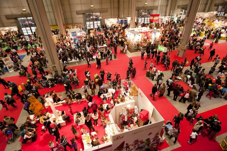 Trade show shot from above