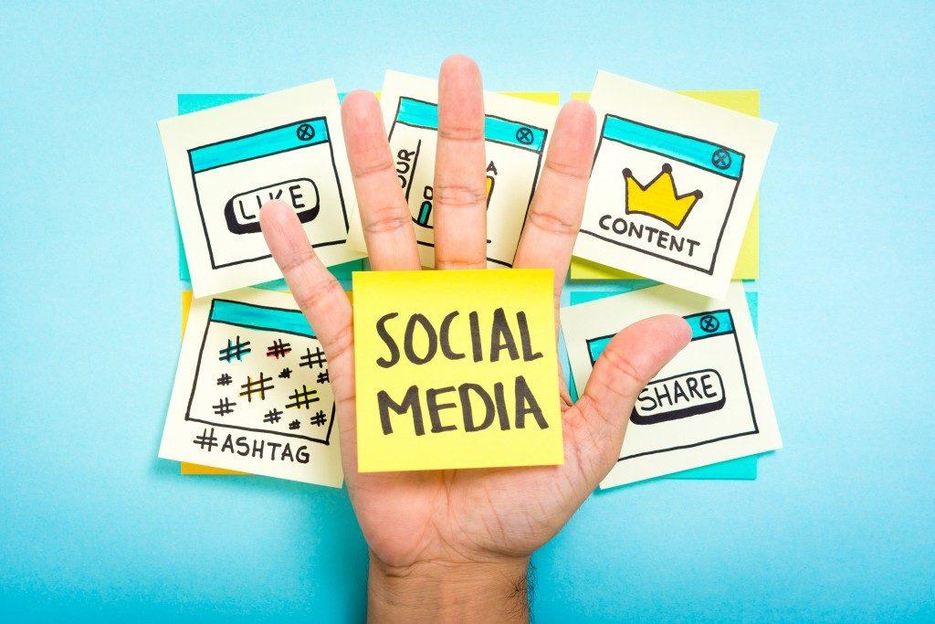 social media management concept