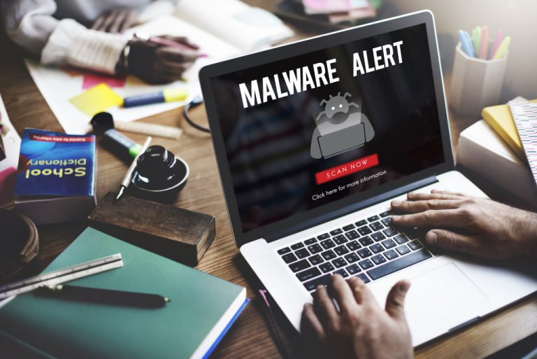 malware alert concept