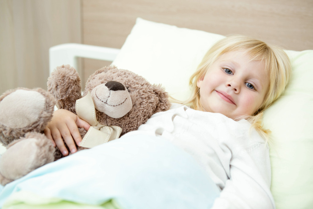 child at a hospital